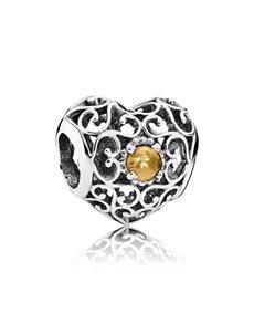 jewellery: Pandora November Silver Heart Charm!