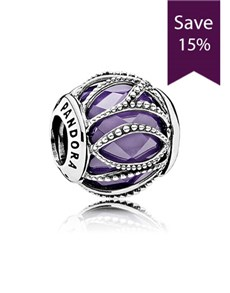 jewellery: Pandora Abstract Silver and Purple Charm!