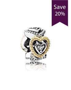 jewellery: Pandora Heart Silver Charm  791975CZ!