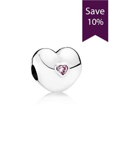 jewellery: Pandora Heart Silver Clip Charm !