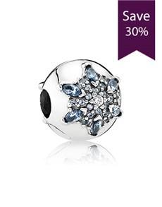 jewellery: Pandora Snowflake Silver Clip Charm !