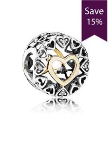 jewellery: Pandora Openwork Heart Charm !