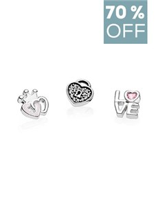 jewellery: Pandora Element Pack Love Heart Charms !