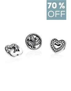 jewellery: Clearance Sale Pandora Element Pack Hearts Charms!