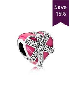 jewellery: Pandora Heart Gift Silver Charm !
