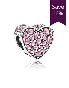 jewellery: Pandora Heart Silver Charm 792069PCZ!