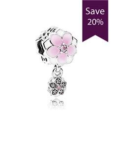 jewellery: Pandora Magnolia Silver Charm !