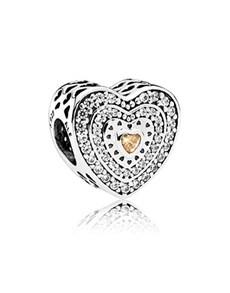 jewellery: Pandora Heart Silver Charm  792081FCZ!
