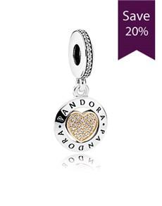 jewellery: Pandora Logo Silver Dangle Charm!