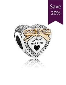 jewellery: Pandora Silver Heart Charm 792083CZ!