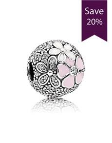 jewellery: Pandora Floral Silver Clip Charm!