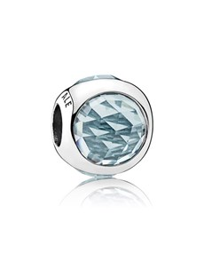 jewellery: Pandora Silver Aqua Blue Crystal Charm!
