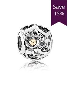 jewellery: Pandora Silver Heart Charm 792108CZ!