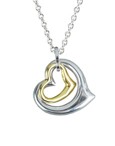 jewellery: Sterling Silver And 9KT Yellow Gold Pendant !