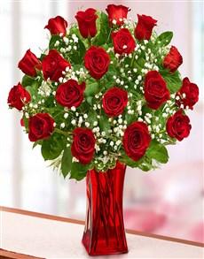 flowers: Blooming Love Premium Red Roses!