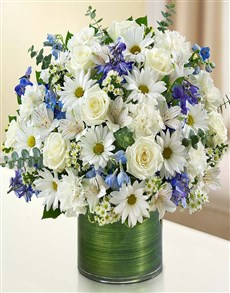 flowers: Cherished Memories - Blue and White!