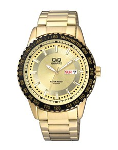 watches: QQ Gold Plated Steel Tachymeter Gents Watch!