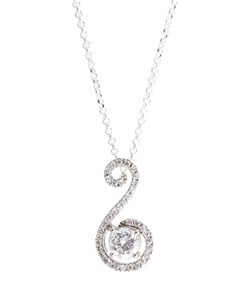 jewellery: Sterling Silver Curved Cubic Necklace!