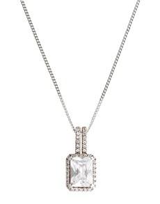 jewellery: Sterling Silver Emerald Shape Necklace!