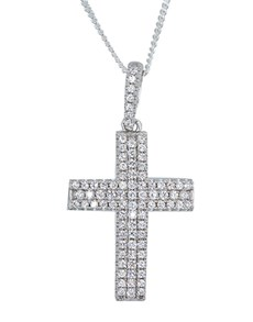 jewellery: Sterling Silver Cubic Cross Necklace!