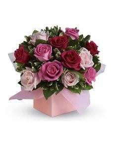 flowers: Blushing Roses!