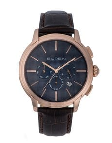 watches: Buren Gents Rose Gold and Brown Watch!