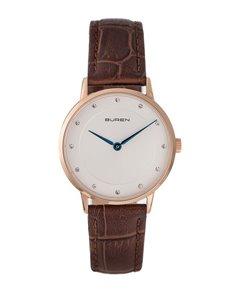 watches: Buren Ladies Rose 32mm Case  Navy Strap Watch!