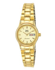 watches: QQ Ladies Gold Plated Champaign Dial Watch!