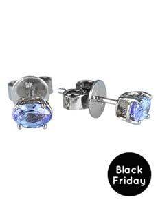 jewellery: 9KT White Gold Claw set Tanzanite studs Earrings!