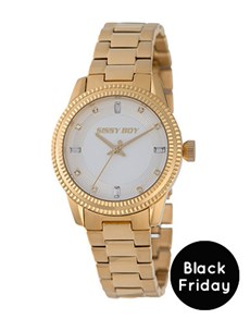 watches: Sissy Boy Ladies Yellow Gold Watch!