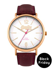 watches: Superdry Ladies Oxford Leather Watch!
