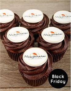 bakery: Custom Branded Chocolate Cupcakes!