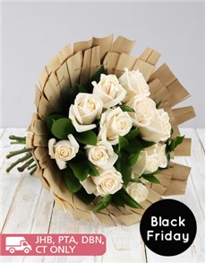 flowers: Bamboo Bouquet of White Roses!