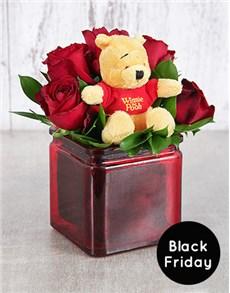 gifts: Pooh Bear Roses!