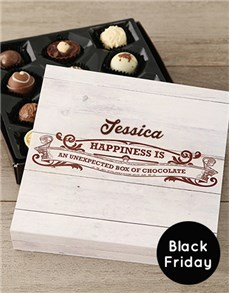gifts: Personalised Happiness Black Friday Chocolate Tray!