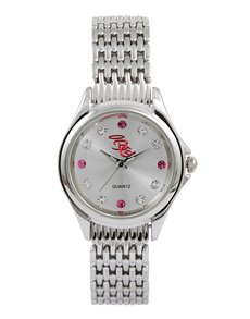 watches: Bad Girl Royalty Silver Watch !
