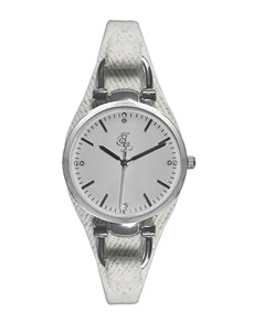 watches: Bad Girl Roadway Silver and White Watch!