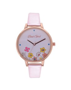 watches: Bad Girl Fluara Fever Rose Case Watch!