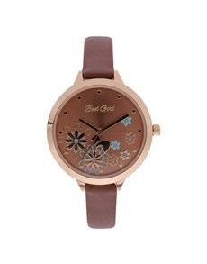 watches: Bad Girl Brown Floral Watch!