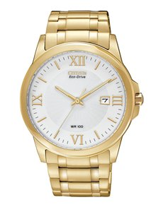 jewellery: Citizen Gents Gold Eco Drive Watch!