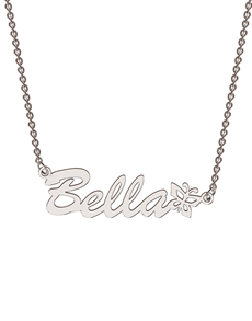 jewellery: Memi Sterling Silver Diamond Personalised Necklace!