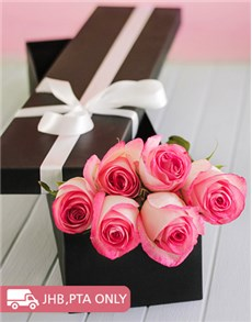 flowers: Pink Giant Ethiopian Roses in a Box!