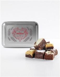 bakery: Personalised Anniversary Chocfull Brownie Tin!