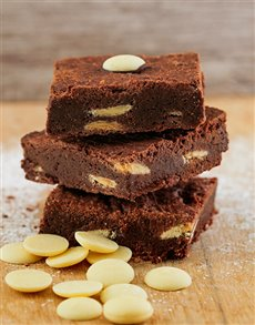 bakery: White Chocolate Chunk Brownies!