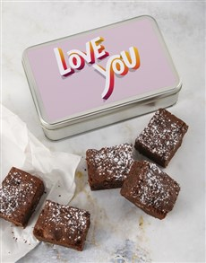 bakery: Love You Brownie Tin!