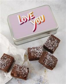 bakery: Love You Brownie Tin!