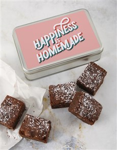 bakery: Happiness Is Homemade Brownie Tin!