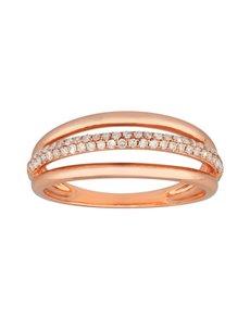 jewellery: 9KT Rose Gold Diamond 0,21ct Ring!