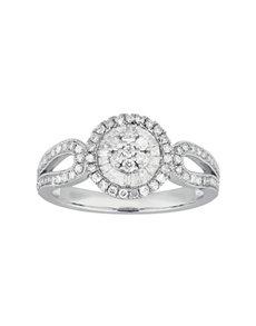 jewellery: Halo White Gold Diamond Ring!