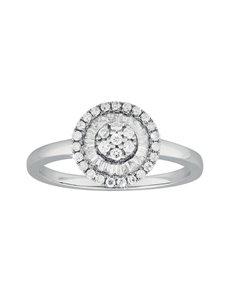 jewellery: 9KT White Gold Diamond Ring C188!
